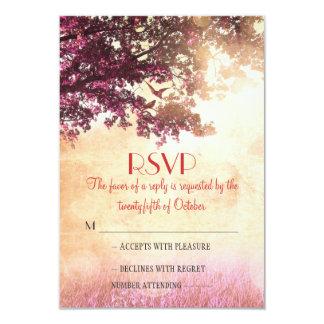 Rustikale alte Eichenbaum-Hochzeit UAWG-Karten Einladungen