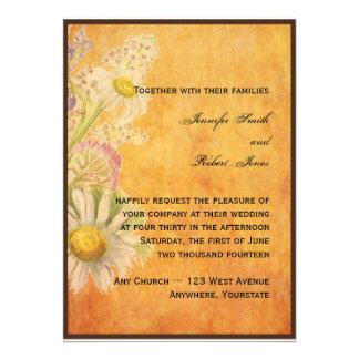 Rustikale Aquarell-Gänseblümchen auf Personalisierte Ankündigungskarte