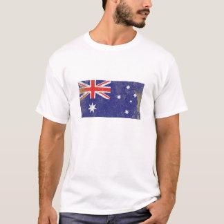Rustikale Australien-Flagge T-Shirt