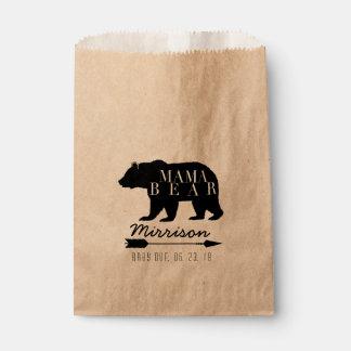 Rustikale Babyparty Mutter-Bear | Geschenktütchen