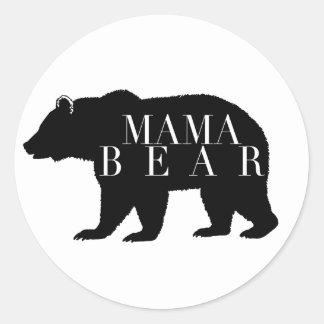 Rustikale Babyparty Mutter-Bear   Runder Aufkleber