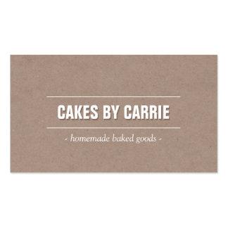 Rustikale Bäckerei/Catering/Koch der Visitenkarten
