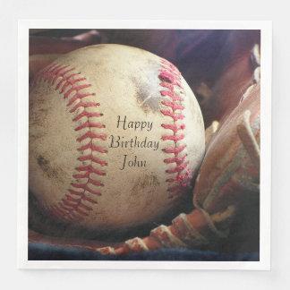 Rustikale Baseball-alles- Gute zum Papierserviette
