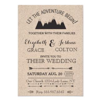 Rustikale Berge, die Einladung Wedding sind