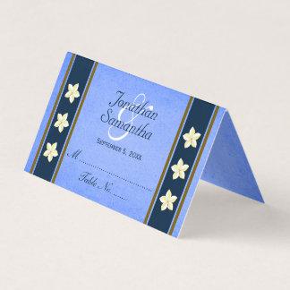 Rustikale blaue platzkarte