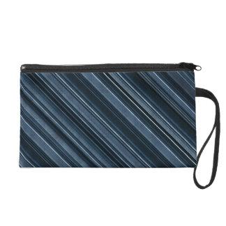Rustikale blaue Streifen Wristlet Handtasche