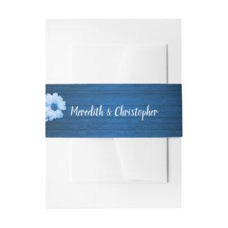 Rustikale blaues Wedding Gänseblümchen-Holz-und Einladungsbanderole