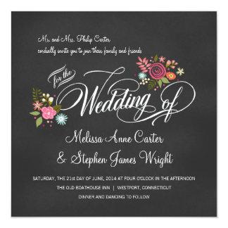 Rustikale Blumentafel-Hochzeits-Einladungen