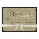Rustikale Bogen-und Leinwand-Hochzeits-Antwort Individuelle Einladungskarten