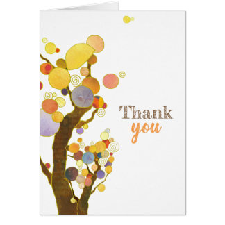 Rustikale Boho Bäume danken Ihnen leere Karte