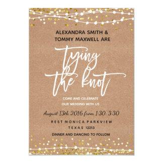 Rustikale Boho Hochzeits-Einladung Karte