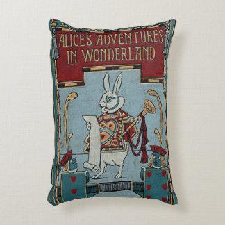 Rustikale Bucheinband-Kissen-Alice im Wunderland Dekokissen