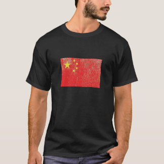Rustikale China-Flagge T-Shirt