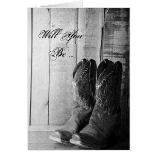 Rustikale Cowboystiefel sind Sie sind meine Karte