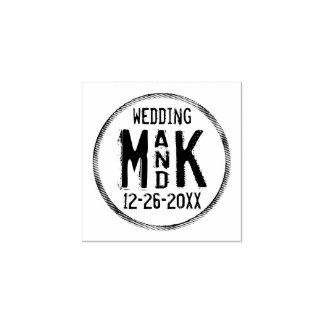 Rustikale DIY Hochzeits-GummiBriefmarke - addieren Gummistempel