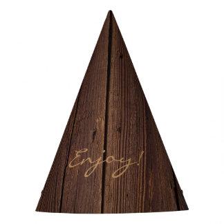 Rustikale dunkle Bretterzaun-Land-Art Browns Partyhütchen