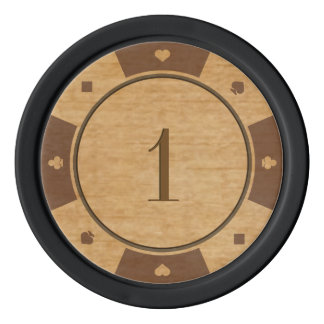 Rustikale Eichen-Holz-Kasino-Art-Poker-Chips Poker Chips Set