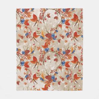 Rustikale Fall-Herbst-Blumen-Blumenmuster Fleecedecke
