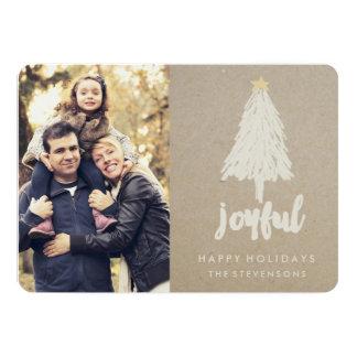 Rustikale Feiertags-Karte Kraftpapier-Kiefer-| 12,7 X 17,8 Cm Einladungskarte