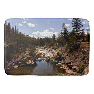 Rustikale Fluss-Wildnis-Szenen-Duschen-Matte Badematten