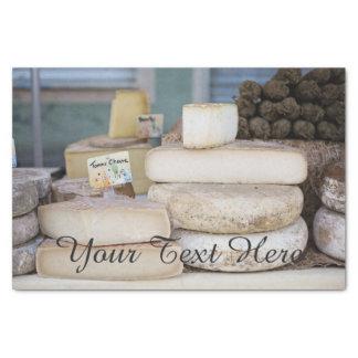 Rustikale französische Käse-Auswahl Seidenpapier