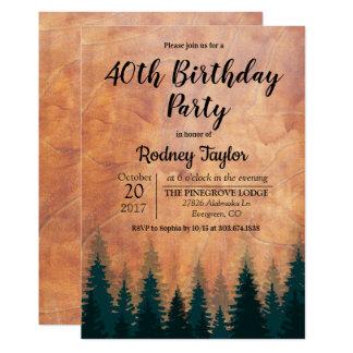 Rustikale Geburtstags-Party Einladung