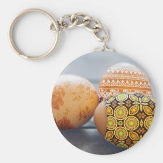 Rustikale gemalte Ostereier Schlüsselanhänger