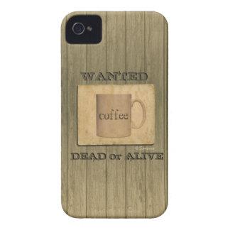 Rustikale gewollte Tote oder lebendig - Kaffee iPhone 4 Case-Mate Hüllen