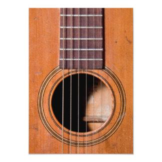 Rustikale Gitarre 12,7 X 17,8 Cm Einladungskarte