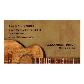 Rustikale Gitarre Visitenkarten Vorlage