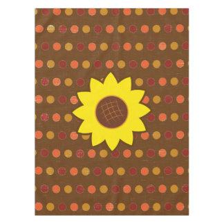 Rustikale Herbst-Sonnenblume Tischdecke