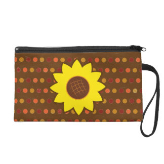 Rustikale Herbst-Sonnenblume Wristlet Handtasche
