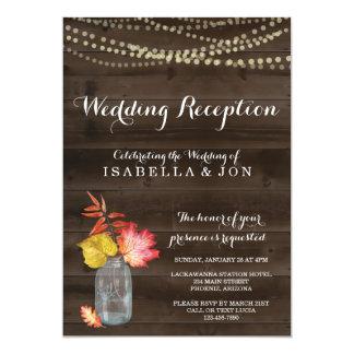 Rustikale Hochzeit im Herbsts-Empfangs-nur Karte