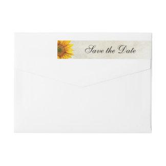 Rustikale Hochzeit Sonnenblume-Save the Date
