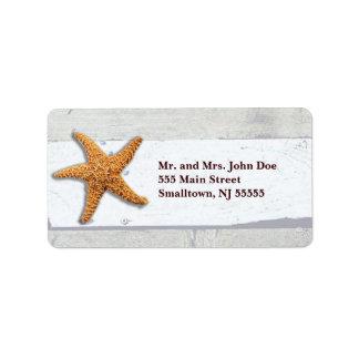 Rustikale Hochzeits-Adressen-Etiketten Beachy Adressaufkleber