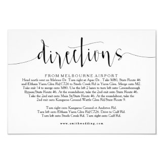 Rustikale Hochzeits-Richtungs-Info-Karte Karte