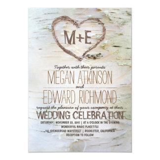 Rustikale Hochzeitseinladungen des 12,7 X 17,8 Cm Einladungskarte
