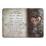 Rustikale Hochzeitseinladungen des Baums 12,7 X 17,8 Cm Einladungskarte