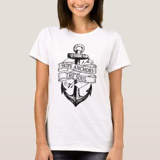 Rustikale Hoffnung verankert den T-Shirt