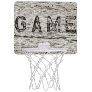 Rustikale hölzerne Effekt-Spiel-Beschriftung Mini Basketball Ring
