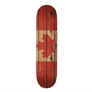 Rustikale Hölzerne Kanada Flagge Skateboarddeck