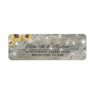 Rustikale hölzerne Sonnenblume-elegante