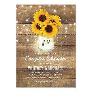 Rustikale hölzerne Wedding Karte