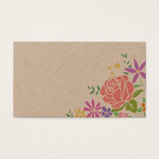 Rustikale hübsche Blumenliedantrag-Hochzeitskarte Visitenkarte