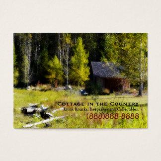 Rustikale Kabine am ersten Tag des Herbstes Visitenkarte