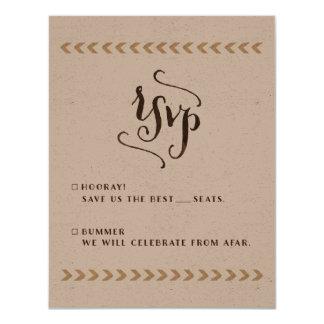 Rustikale Kraftpapier-Hochzeit UAWG Karten Karte