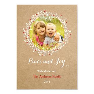 Rustikale Kranz-Friedens-und Einladungskarte