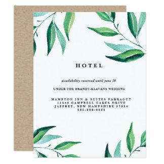 Rustikale Kranz-Grün-Hochzeits-Hotel-Karte Karte