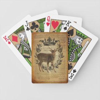 Rustikale Krone Outdoorsman Whitetail-Dollar Bicycle Spielkarten