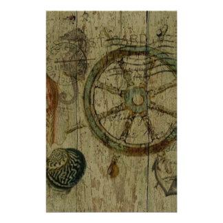 Rustikale Küstennavigator Seashells nautisch Briefpapier